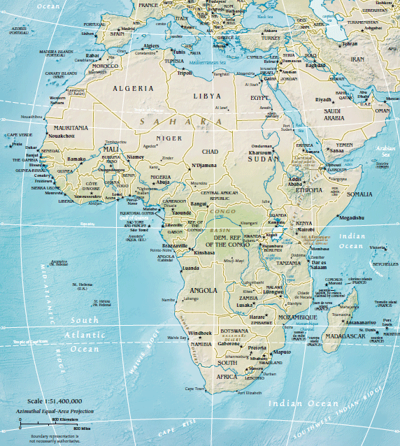 africa map location